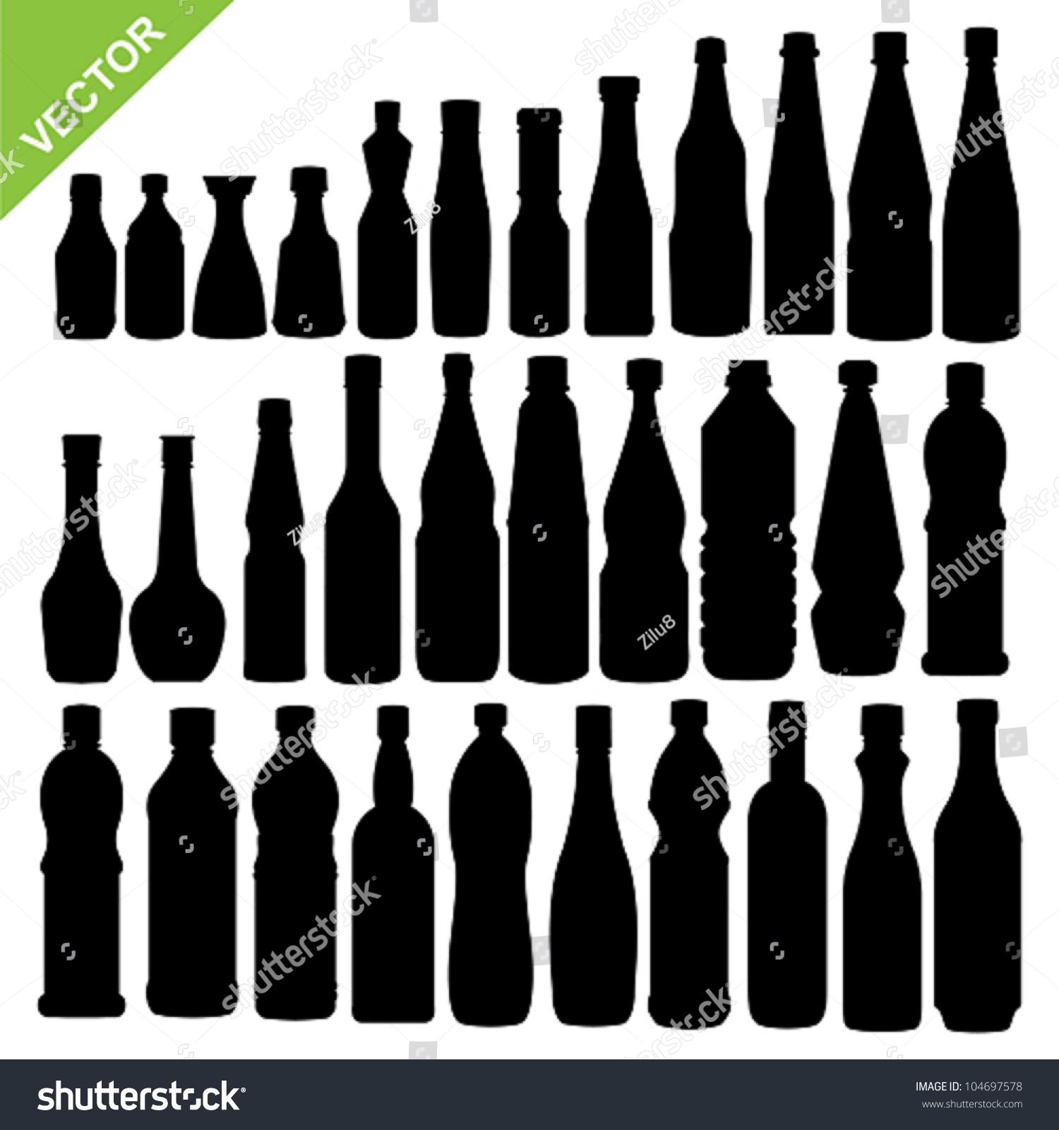 调味瓶的轮廓矢量集-物体,交通运输-海洛创意(hellorf
