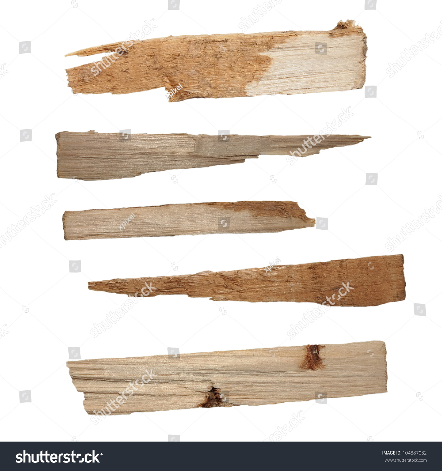 破木板山毛榉藏品孤立在白色背景