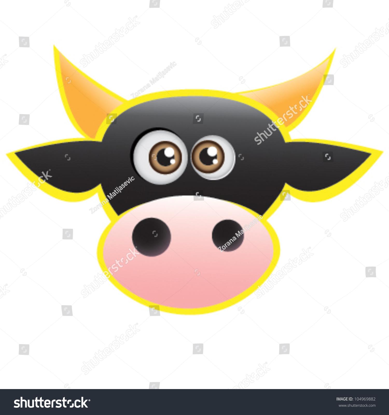 可爱的牛贴纸-动物/野生生物,艺术-海洛创意(hellorf)