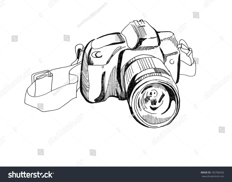 照相机.素描