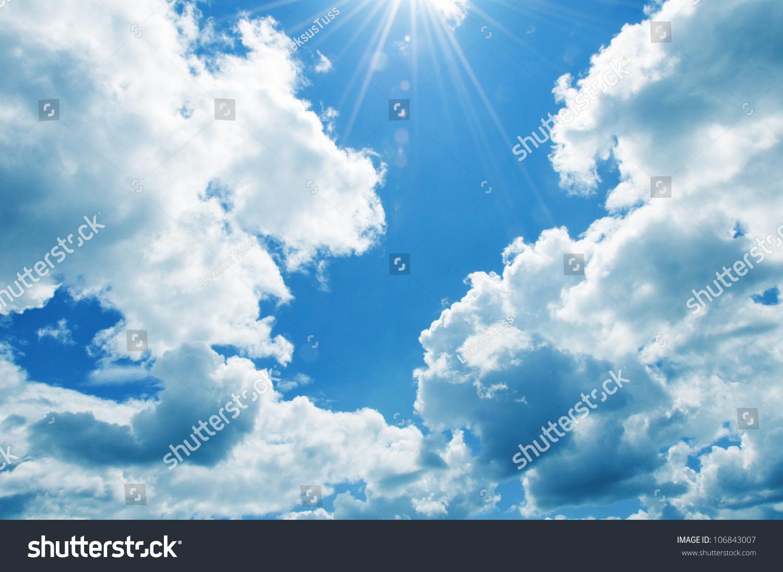蓝色的天空背景-背景/素材,自然-海洛创意(hellorf)-.
