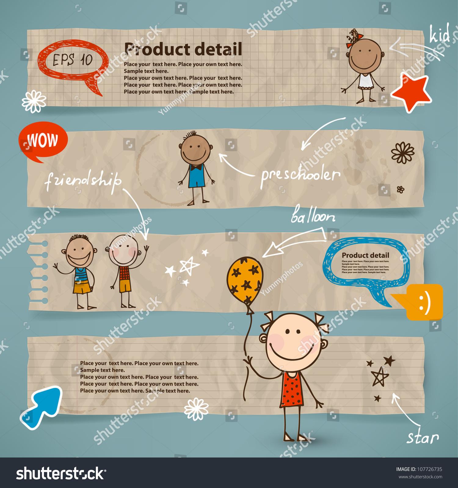 手绘儿童和对话框设置图片