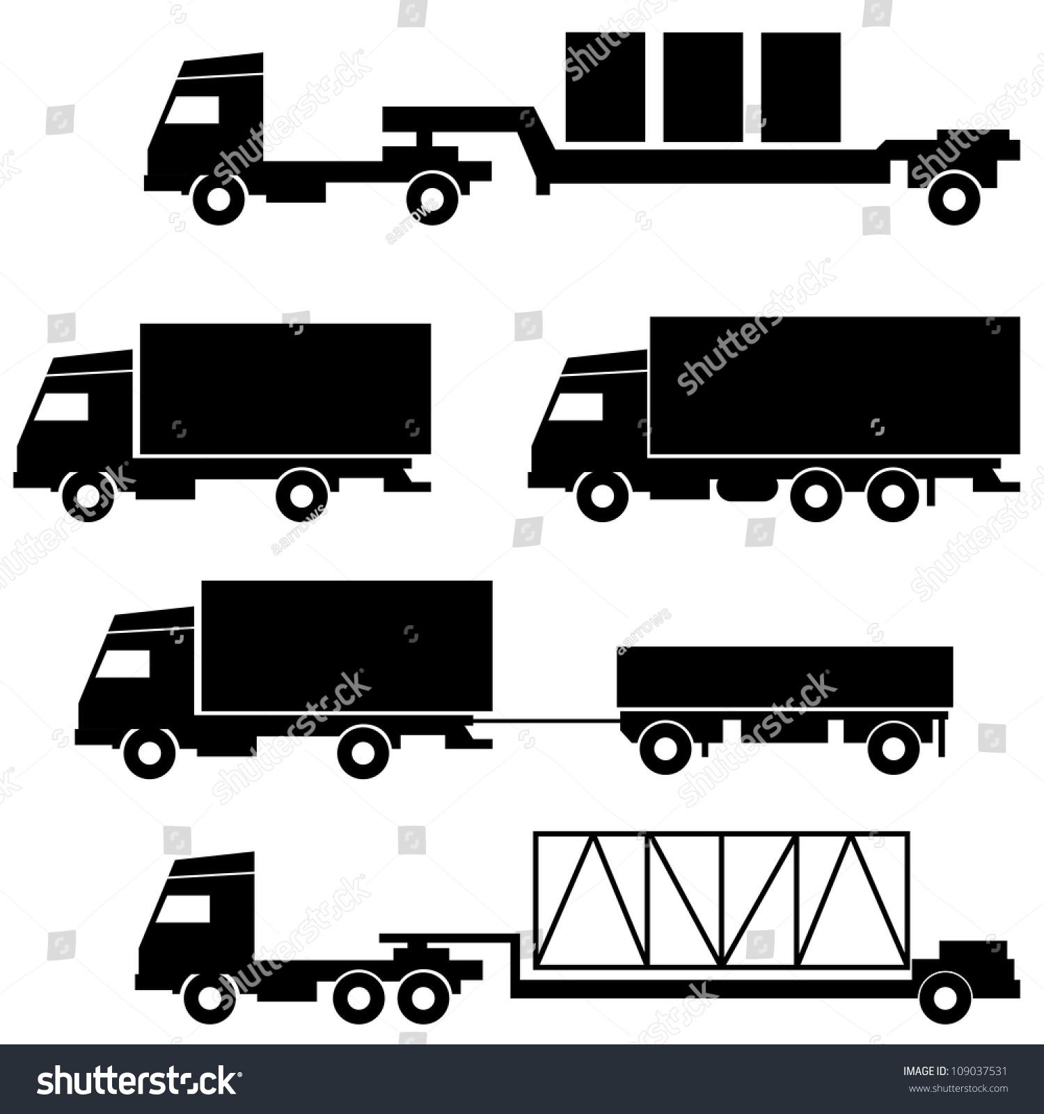 黑白色.矢量插图.-交通运输