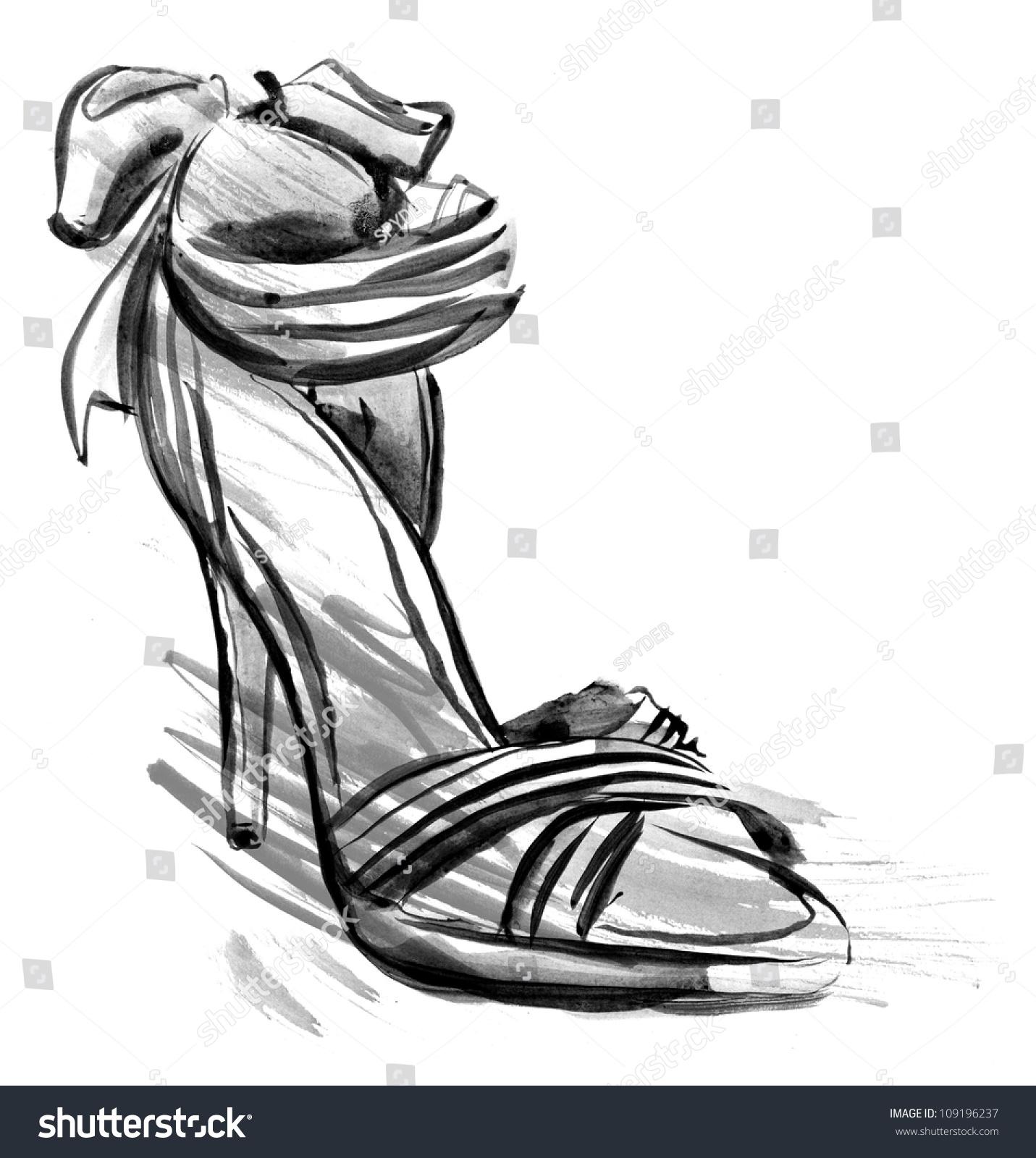 高跟鞋(手绘)