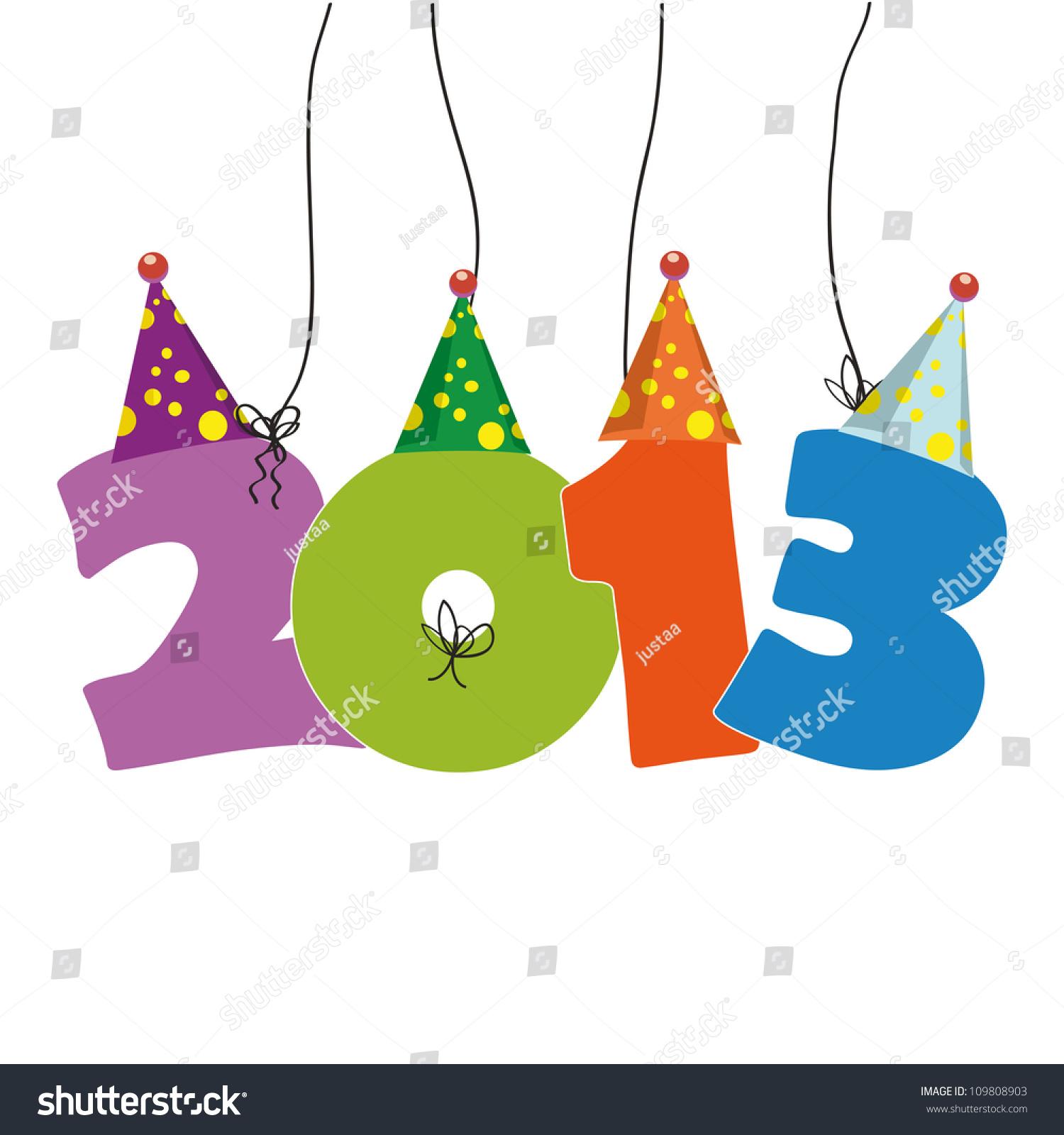 可爱的卡片在2013年新年有趣的数字-其它,抽象-海洛()