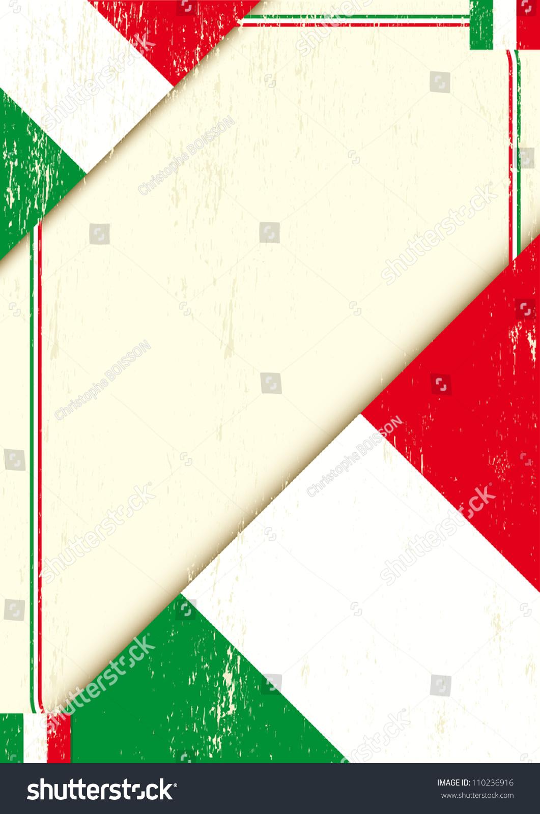 与意大利国旗的海报-背景/素材