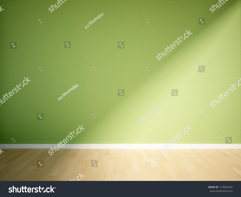 空的绿墙内部-背景/素材,编辑-海洛创意(hellorf)--.