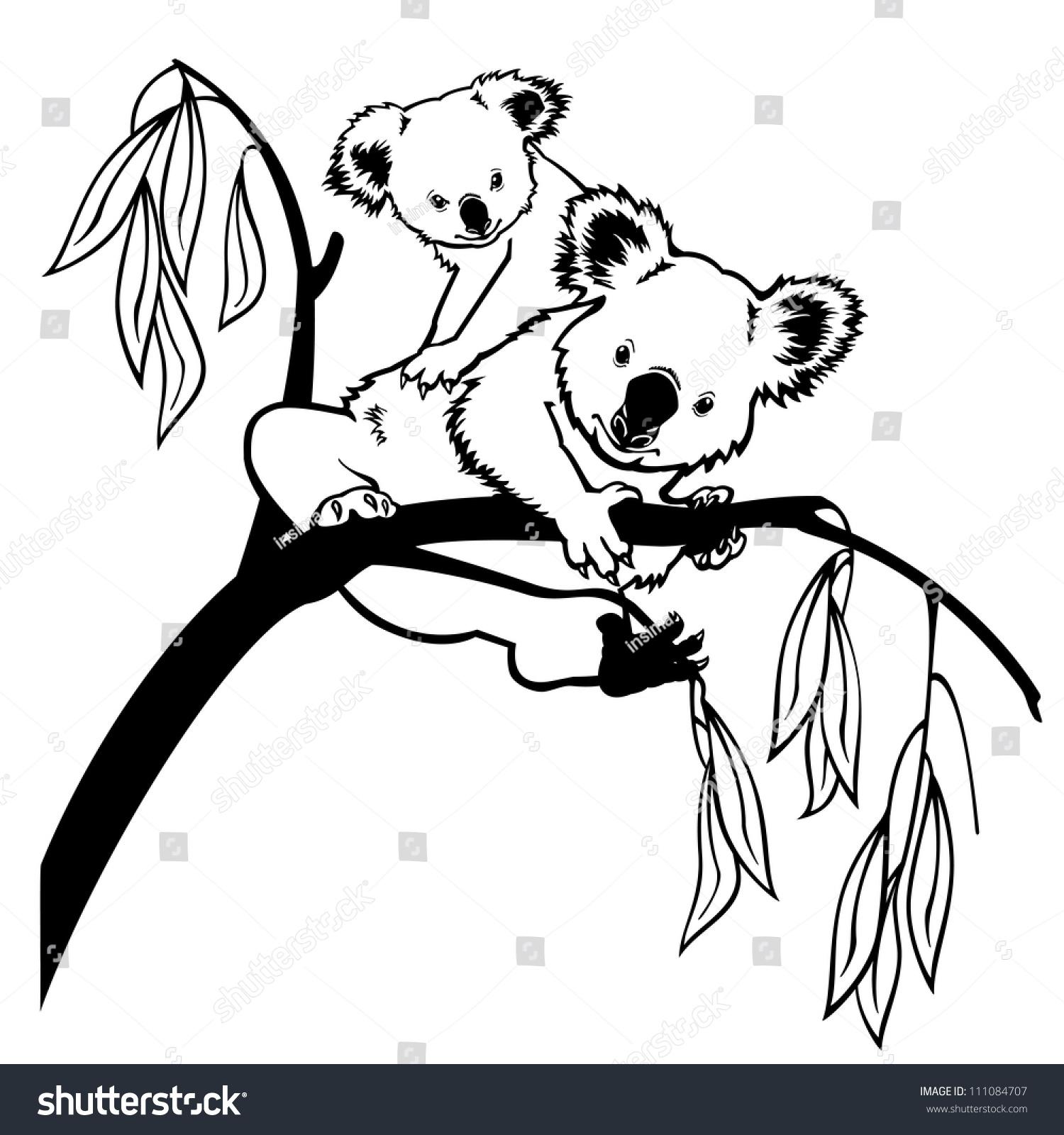 考拉简笔画图片大全-树袋熊图片简笔画-长颈鹿简笔画
