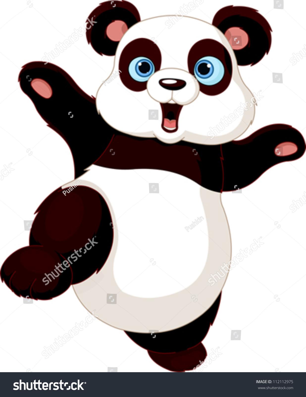 可爱的熊猫做武术-动物/野生生物