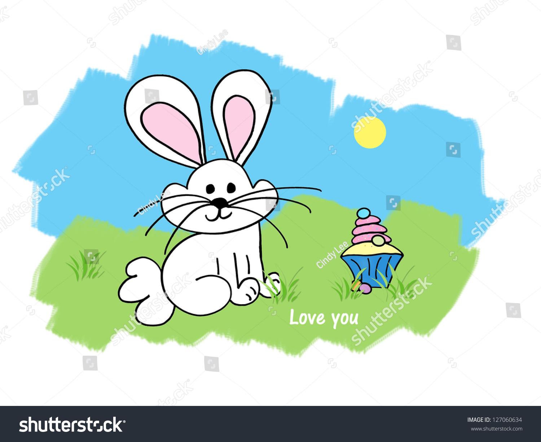 复活节兔子/复活节蛋糕——爱你