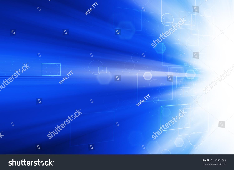 文摘蓝色技术背景.-背景/素材,抽象-海洛创意(hellorf