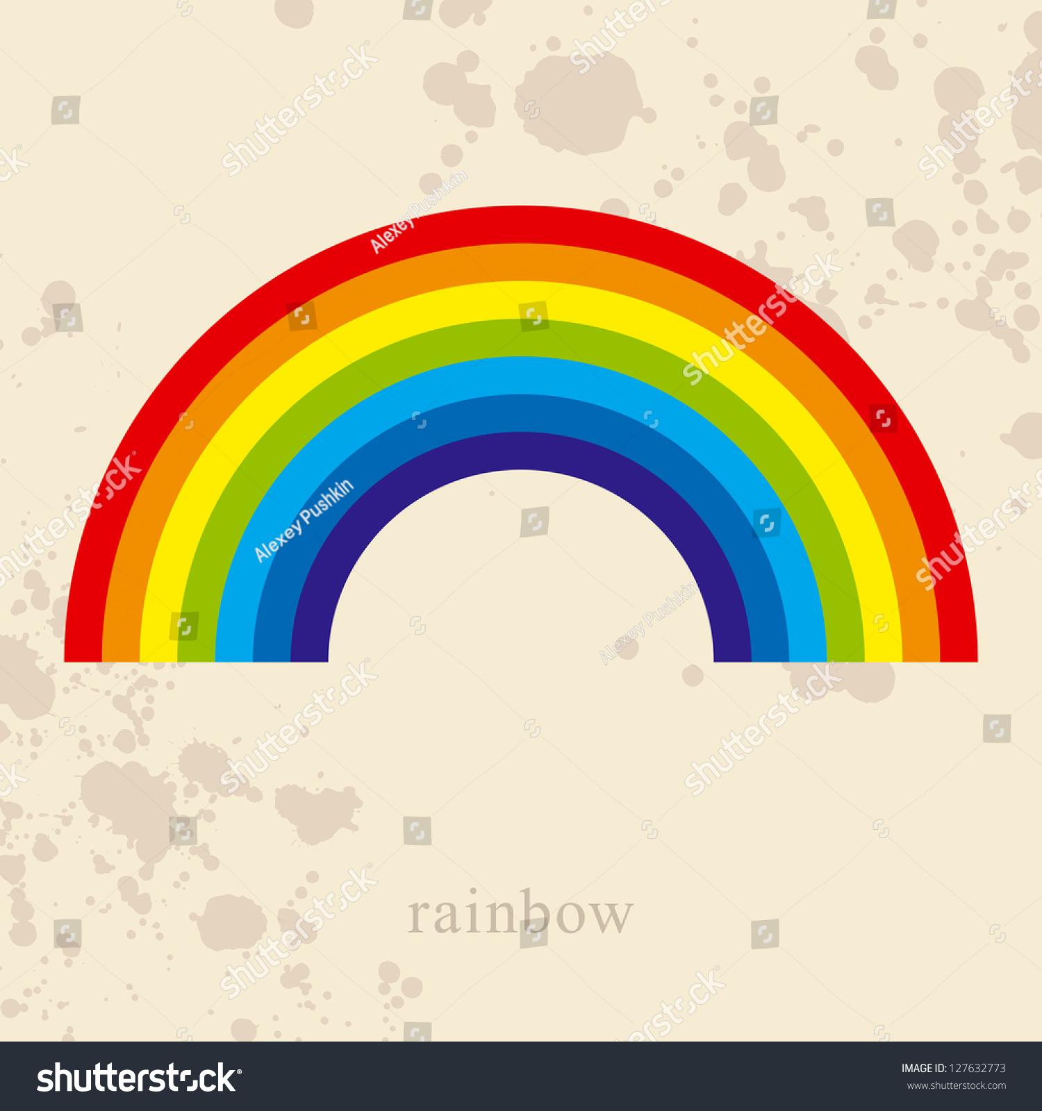 彩虹,矢量图图片