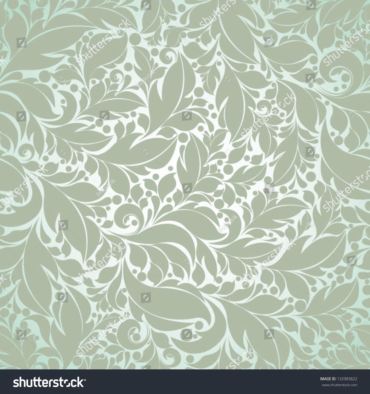 复古碎花无缝图案花卉背景柔和的颜色-背景/素材,复古