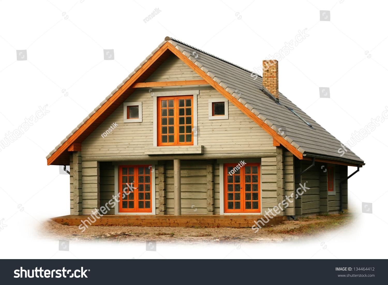 白色的木房子-建筑物/地标-海洛创意(hellorf)-中国