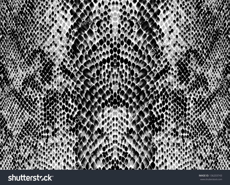 黑与白的蛇皮-背景/素材,抽象-海洛创意(hellorf)--.