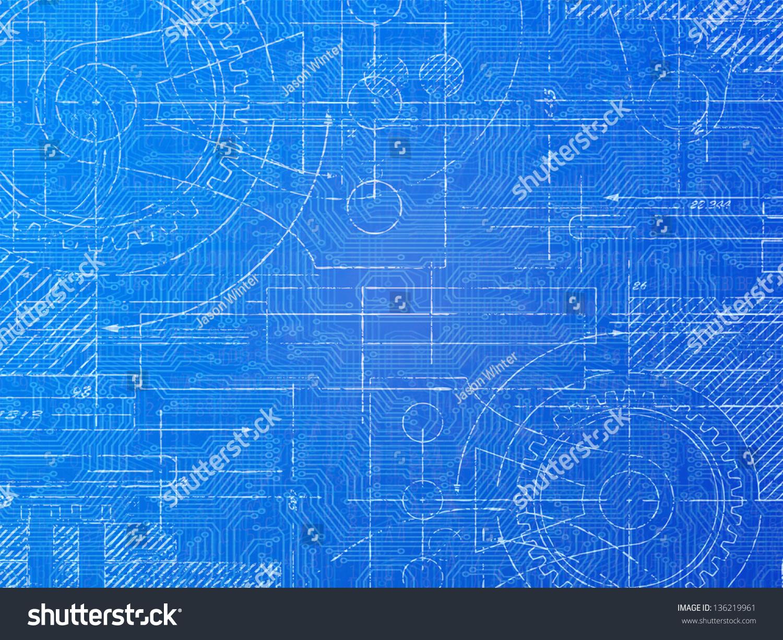 户外广告蓝图-机械海报底纹