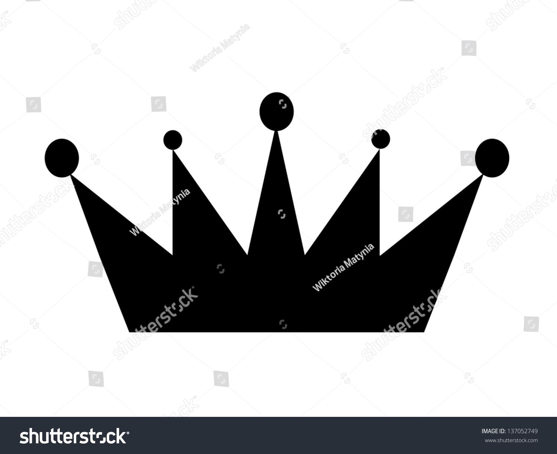 黑色皇冠图标孤立-物体,符号/标志-海洛创意(hellorf)