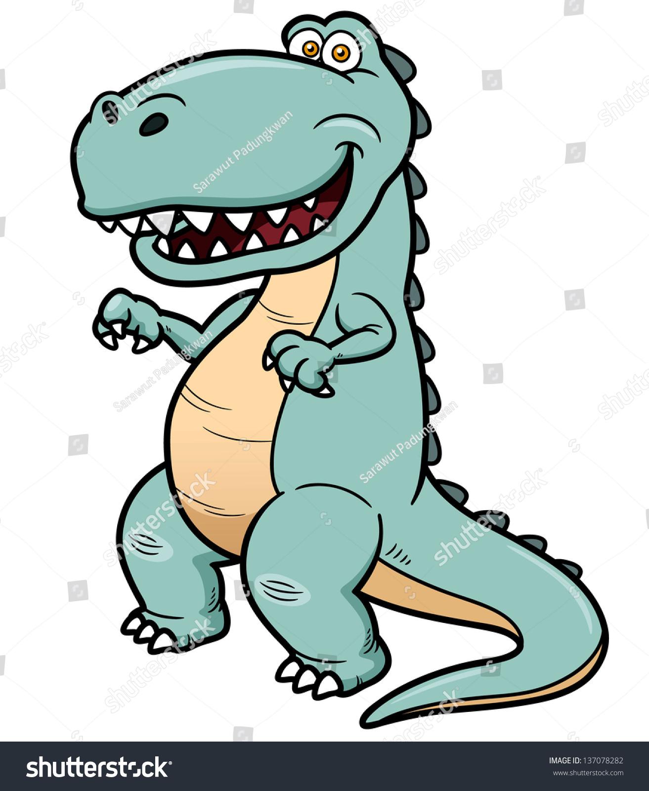 矢量插图漫画的恐龙-动物/野生生物,自然-海洛创意()