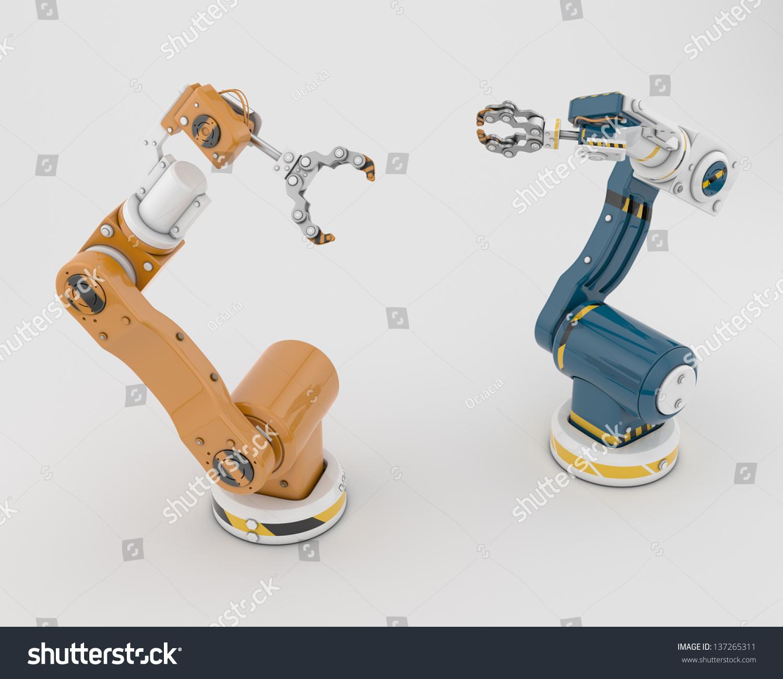 两个独特的机器人助手/智能工具建设-物体