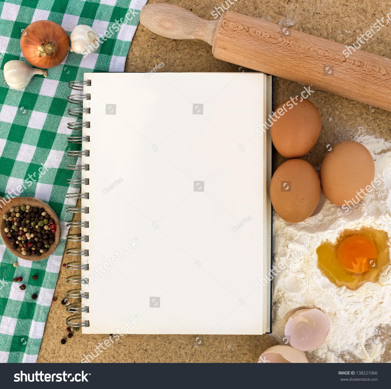 食谱书与烘烤的基本成分-背景/素材,食品及饮料-海洛图片