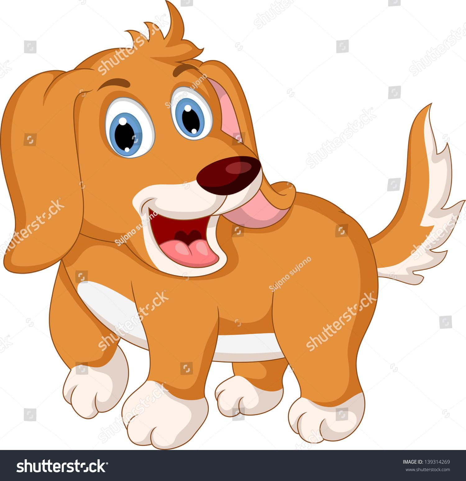 可爱的小狗卡通表情-动物/野生生物-海洛创意