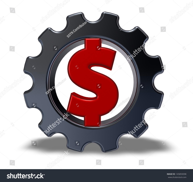 ppt素材红色齿轮