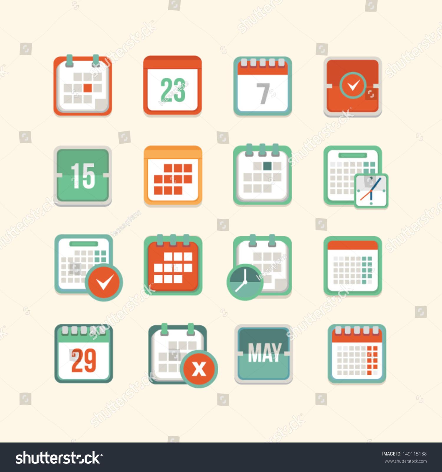 日历图标设置-背景/素材,符号/标志-海洛创意(hellorf