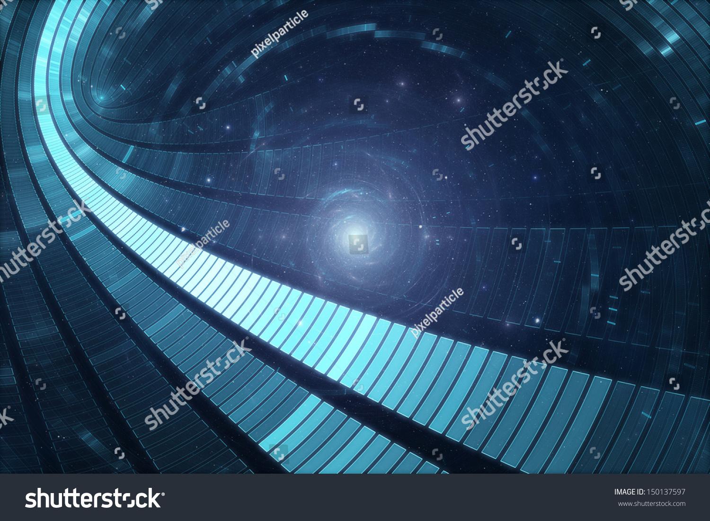 3 d文摘科幻未来背景——太空旅行-传送过山车-其它