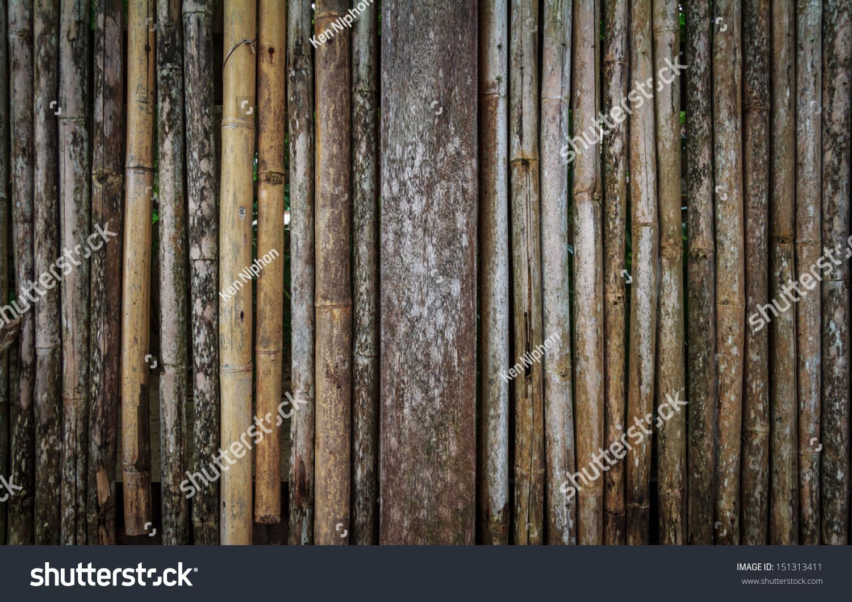 老竹木栅栏的背景-背景/素材-海洛创意(hellorf)-中国