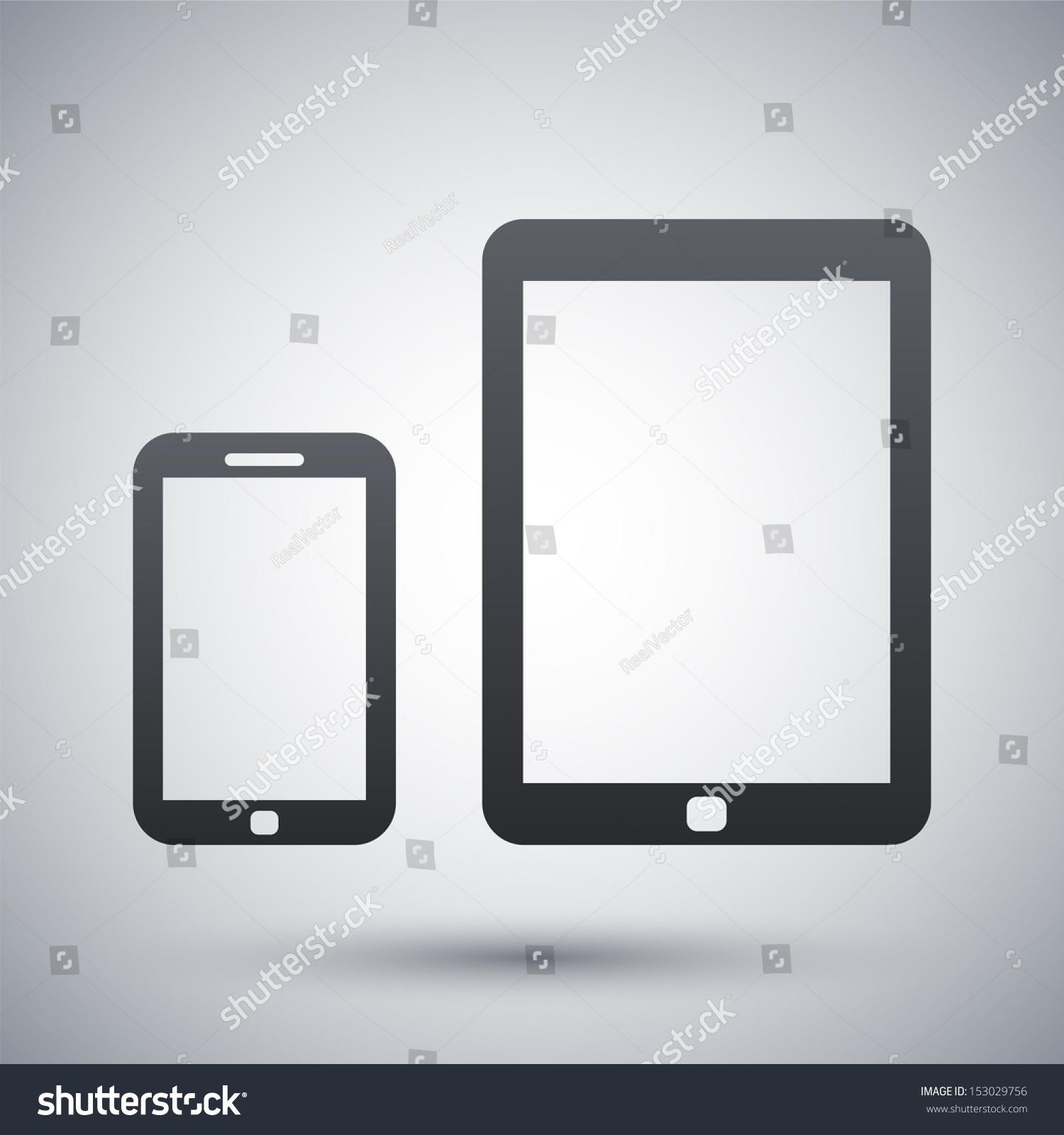 向量的智能手机和平板电脑图标