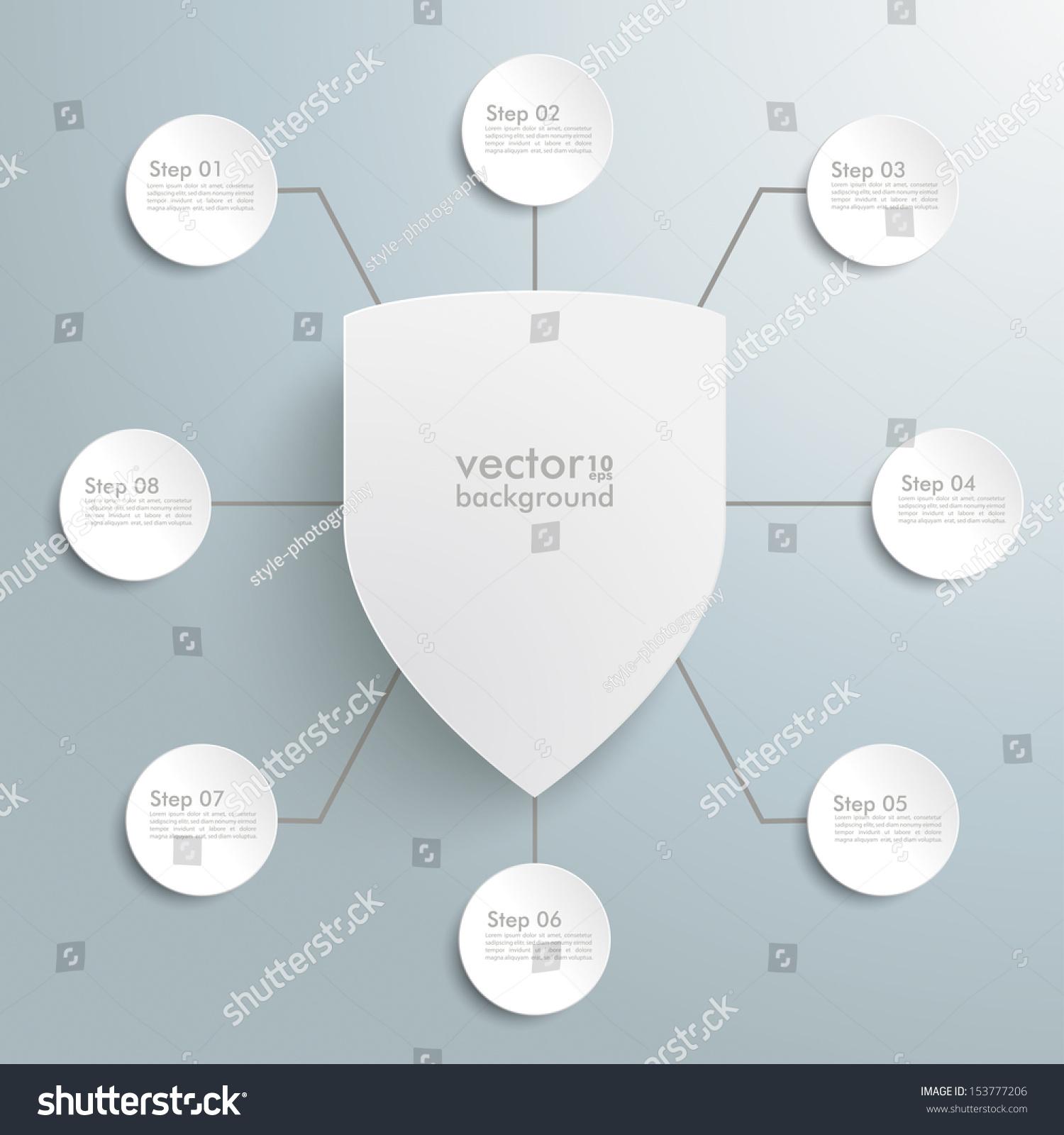 保护盾在灰色背景.每股收益10矢量文件