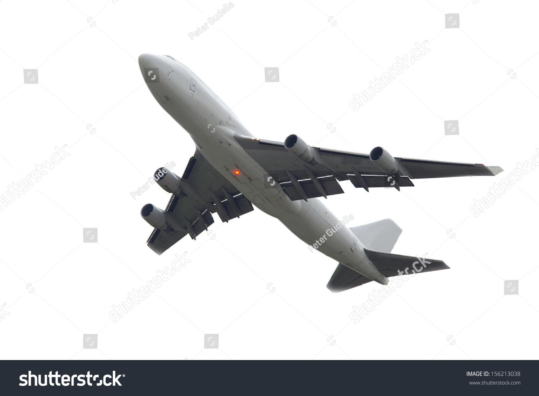 阴天的巨大飞机起飞
