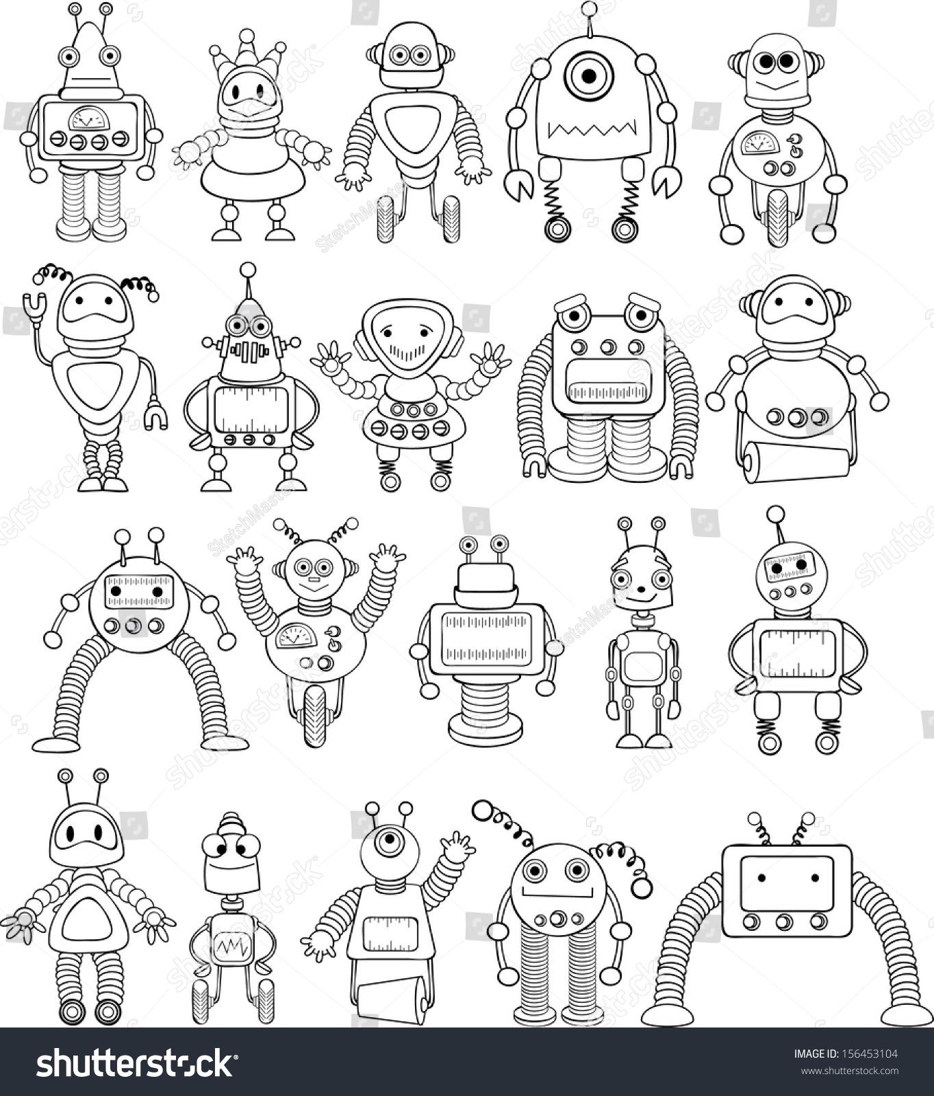 机器人 幼儿彩色简笔画