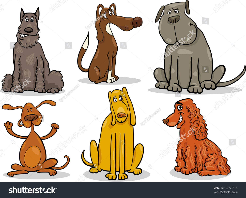 卡通矢量插图的可爱的狗或小狗宠物