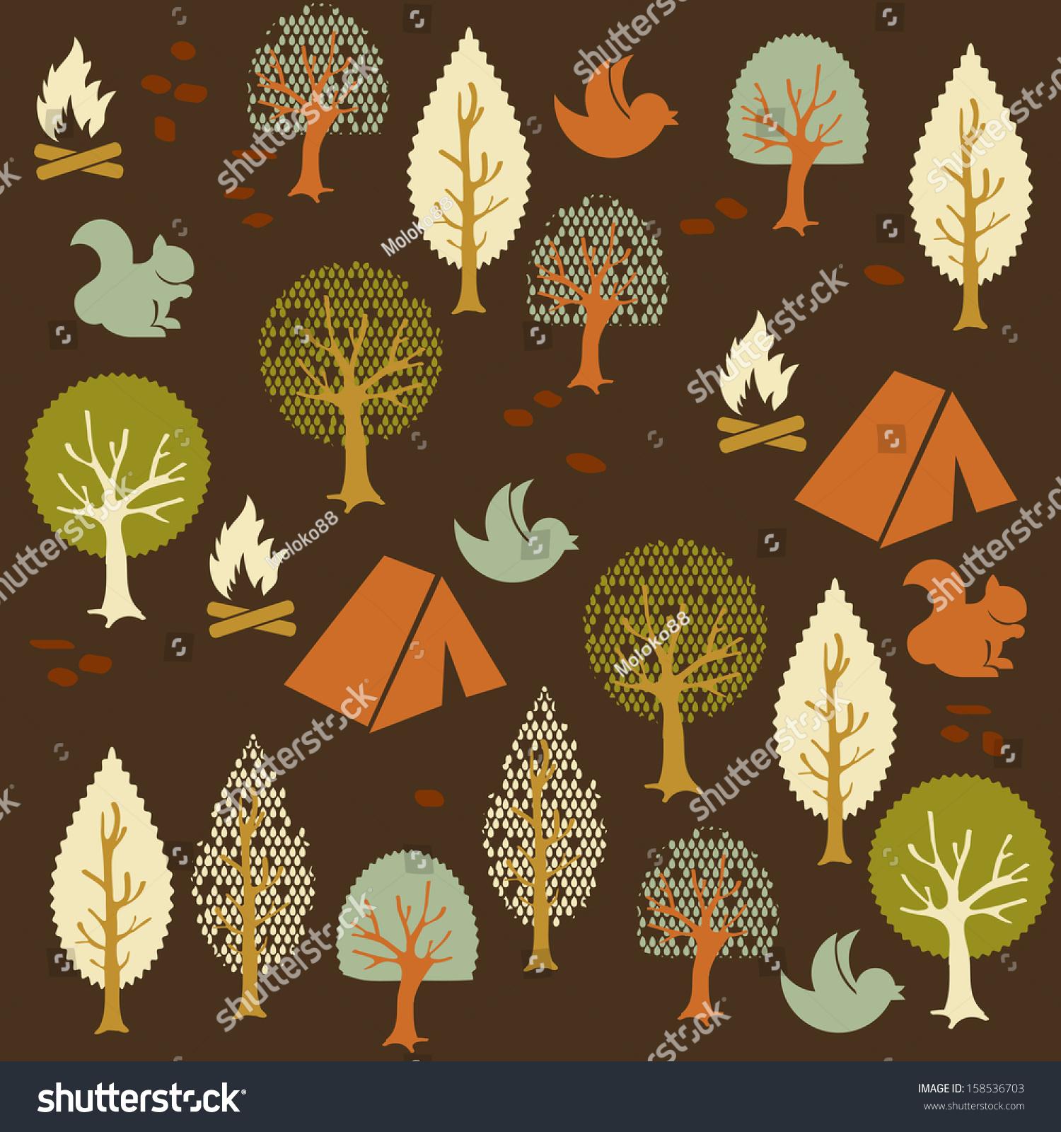 卡通森林模式-背景/素材,抽象-海洛创意(hellorf)--.