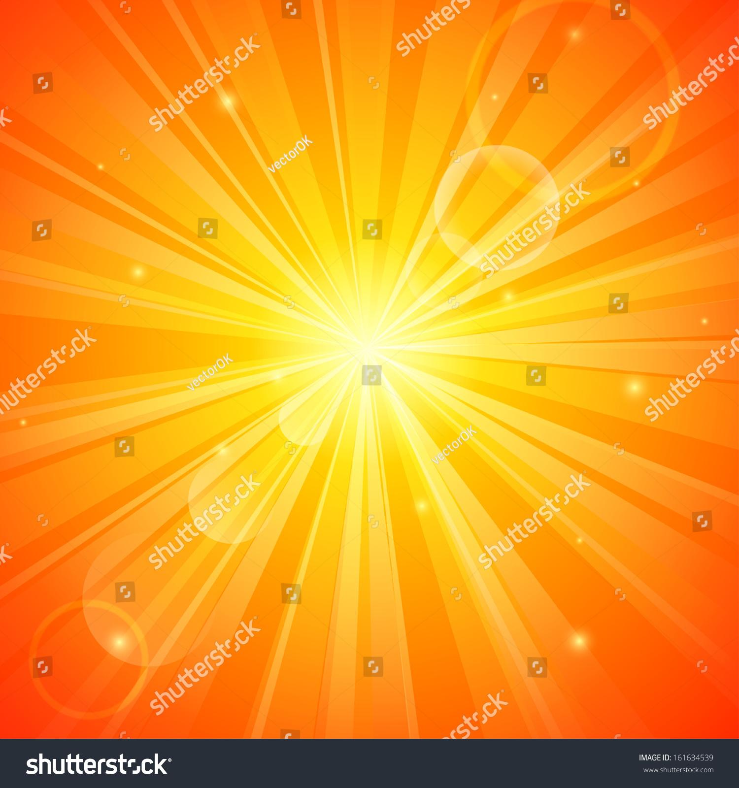 中文摘要橙色阳光背景-背景/素材,抽象-海洛创意()-合