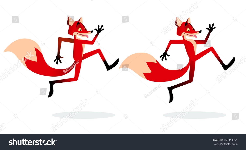 卡通狐狸跑-动物/野生生物,自然-海洛创意(hellorf)-.