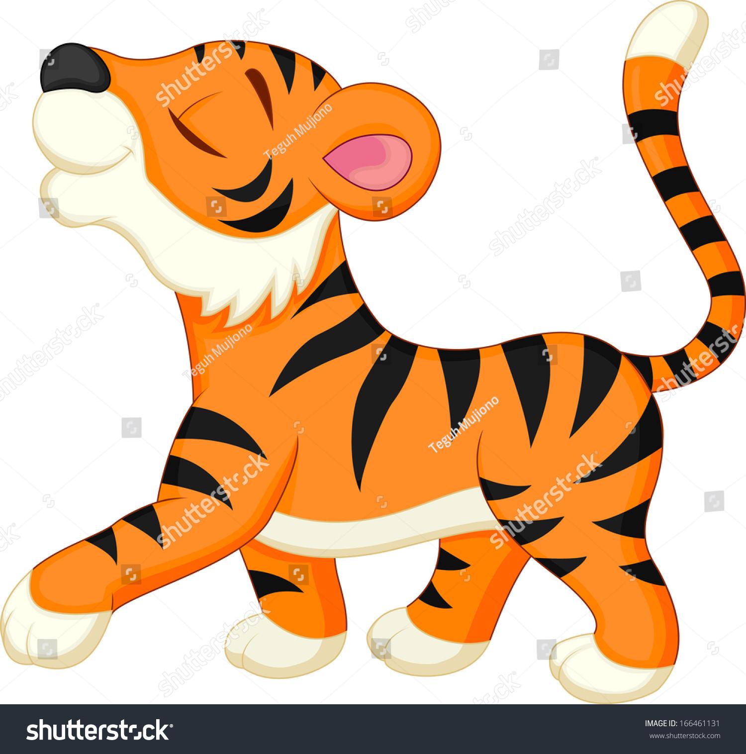 可爱的老虎卡通-动物/野生生物-海洛创意(hellorf)