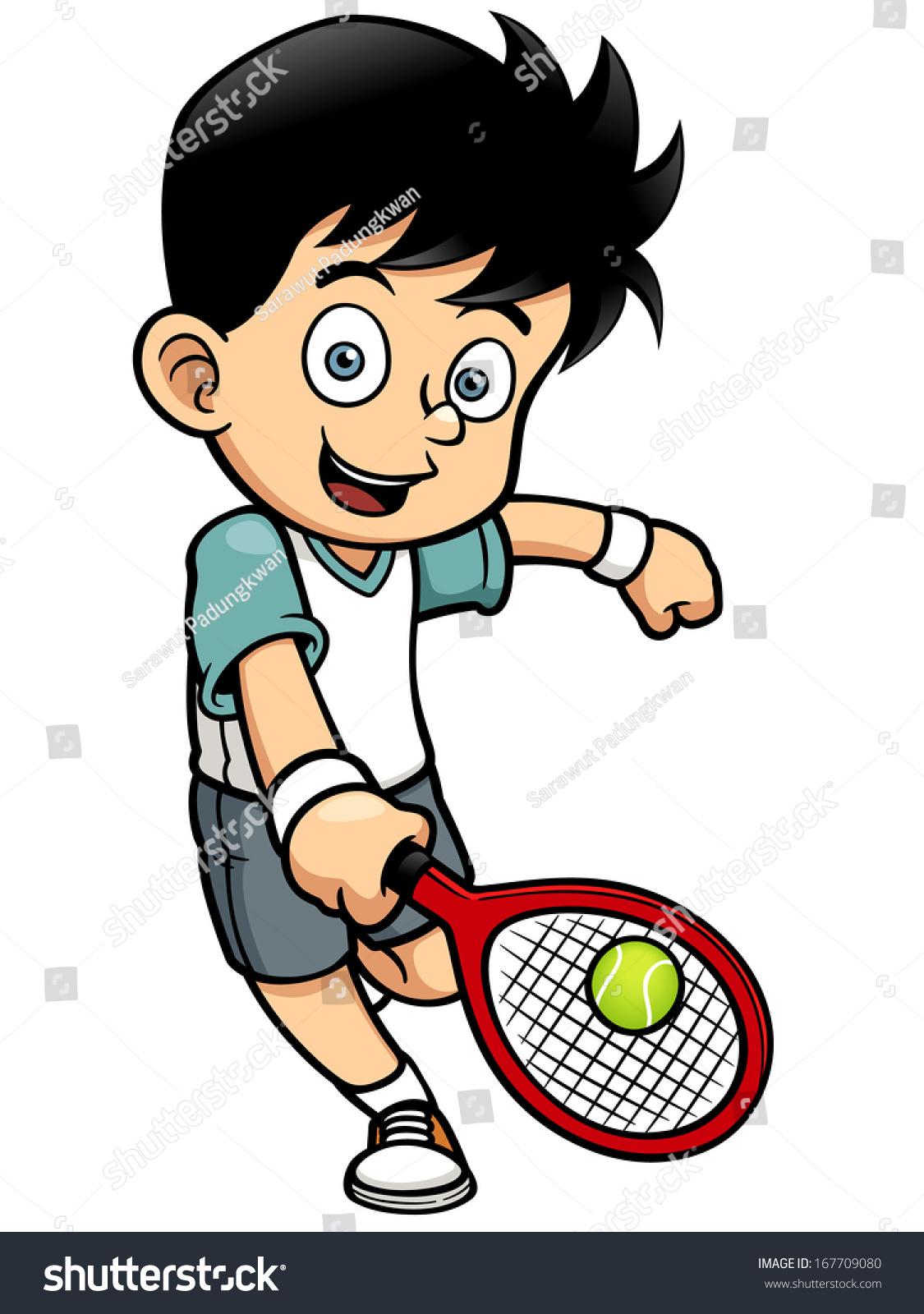 矢量图的网球运动员-人物,运动/娱乐活动-海洛创意()