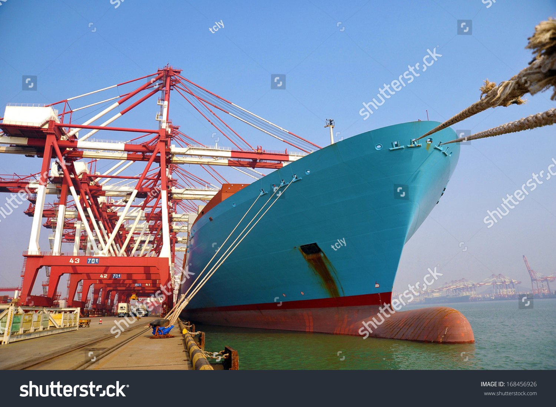 中国青岛港口集装箱码头-交通运输,商业/金融-海洛()