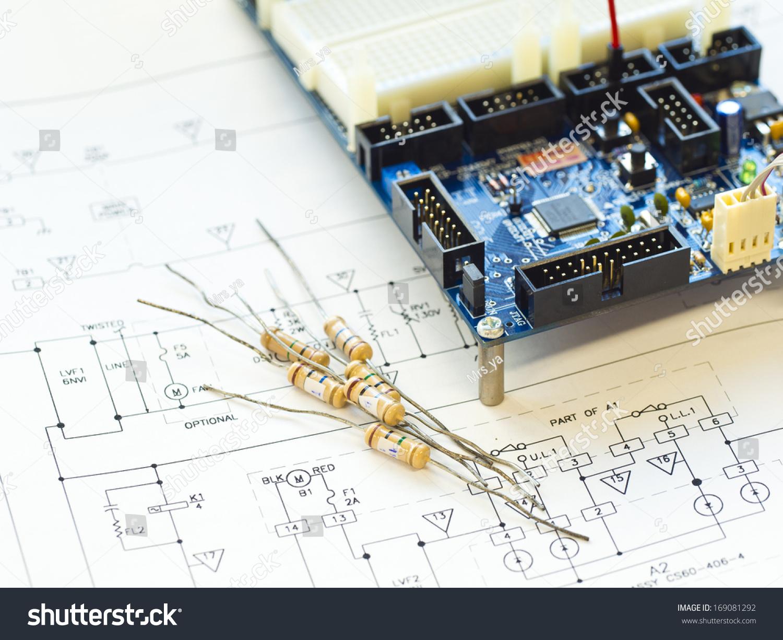 电路图中的电阻元件-物体,科技-海洛创意(hellorf)--.