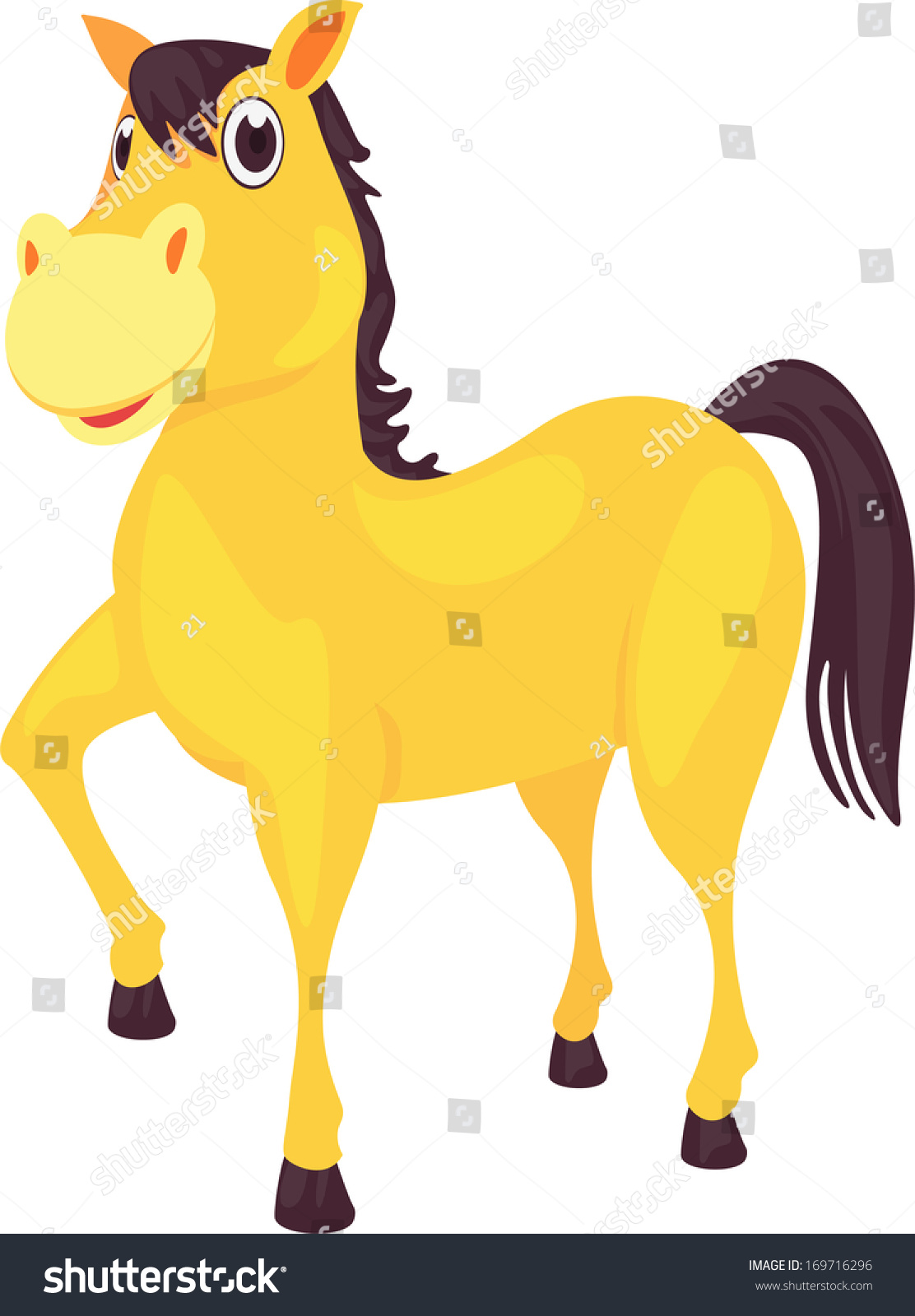 马的矢量插图-动物/野生生物,物体-海洛创意(hellorf)