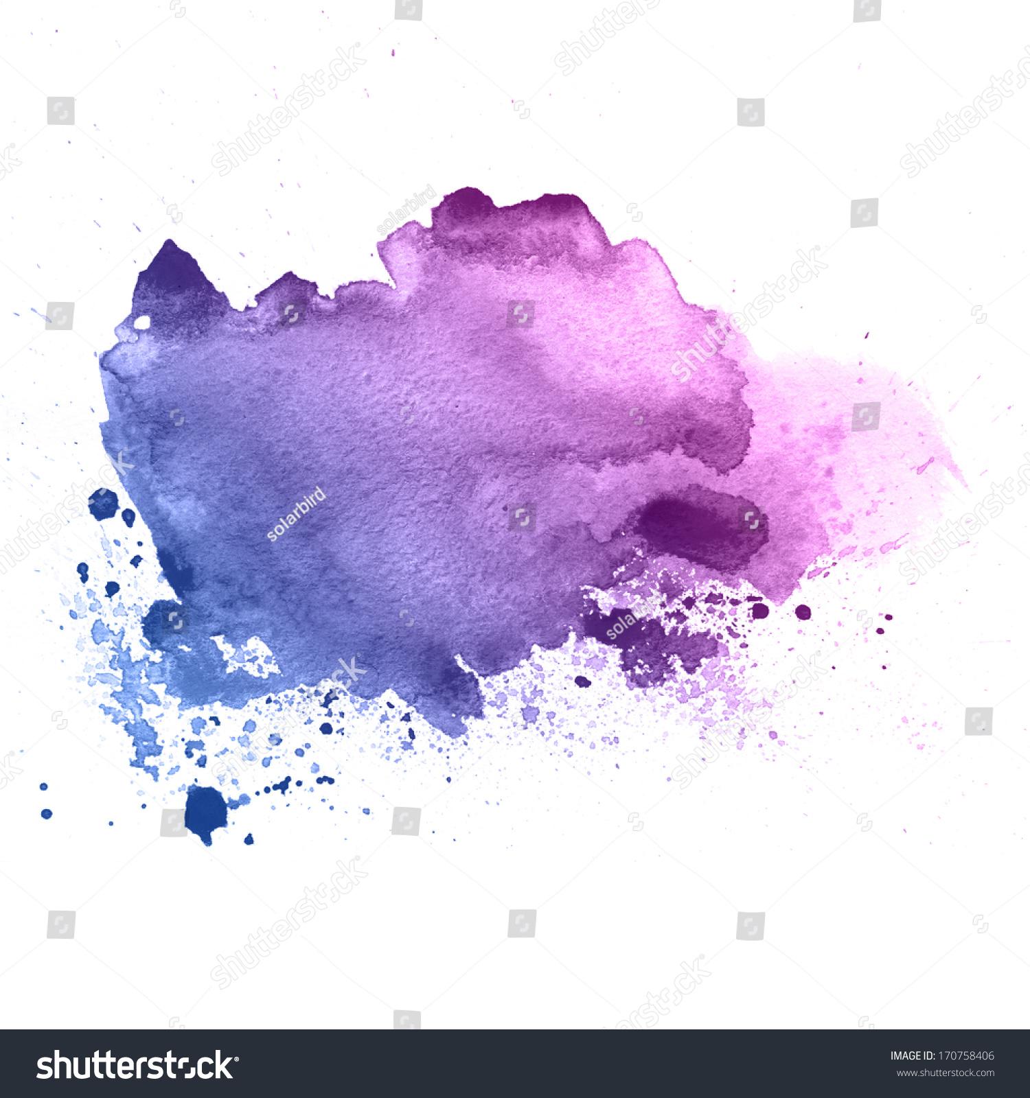 紫罗兰色的水彩滴纹理-背景/素材,抽象-海洛创意()-合