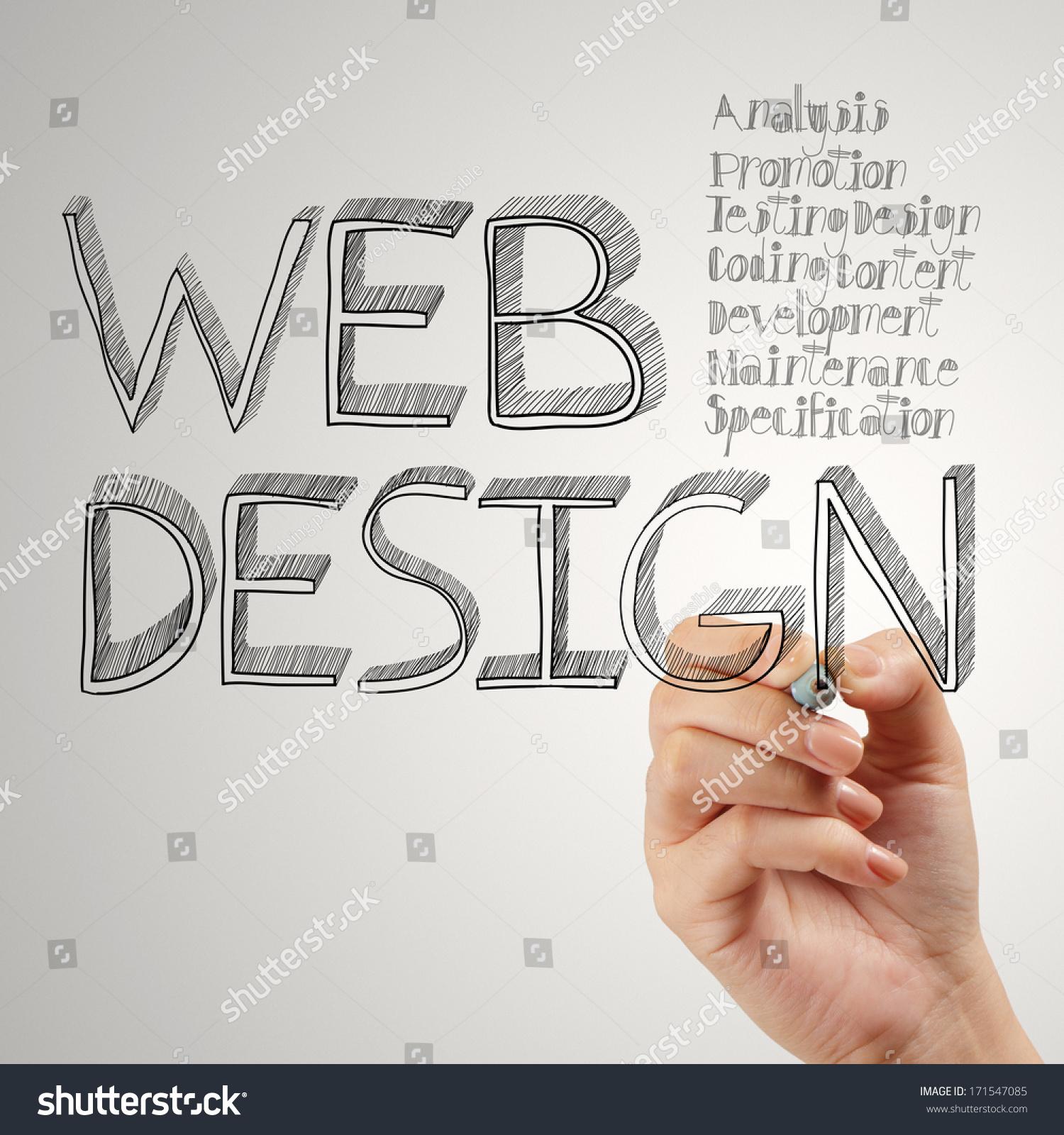 商人网页设计手绘图的概念-商业/金融