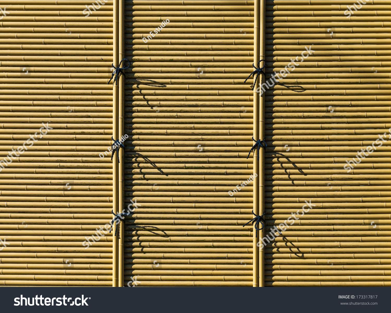 竹墙背景-背景/素材-海洛创意(hellorf)-shutterstock