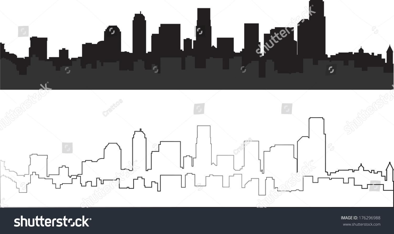 城市轮廓-背景/素材,公园/户外-海洛创意(hellorf)--.