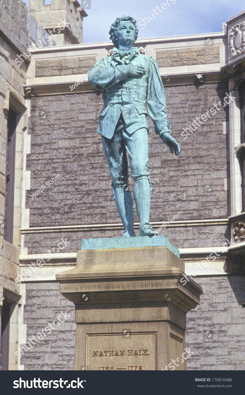 内森黑尔,革命战争的爱国者雕像-艺术