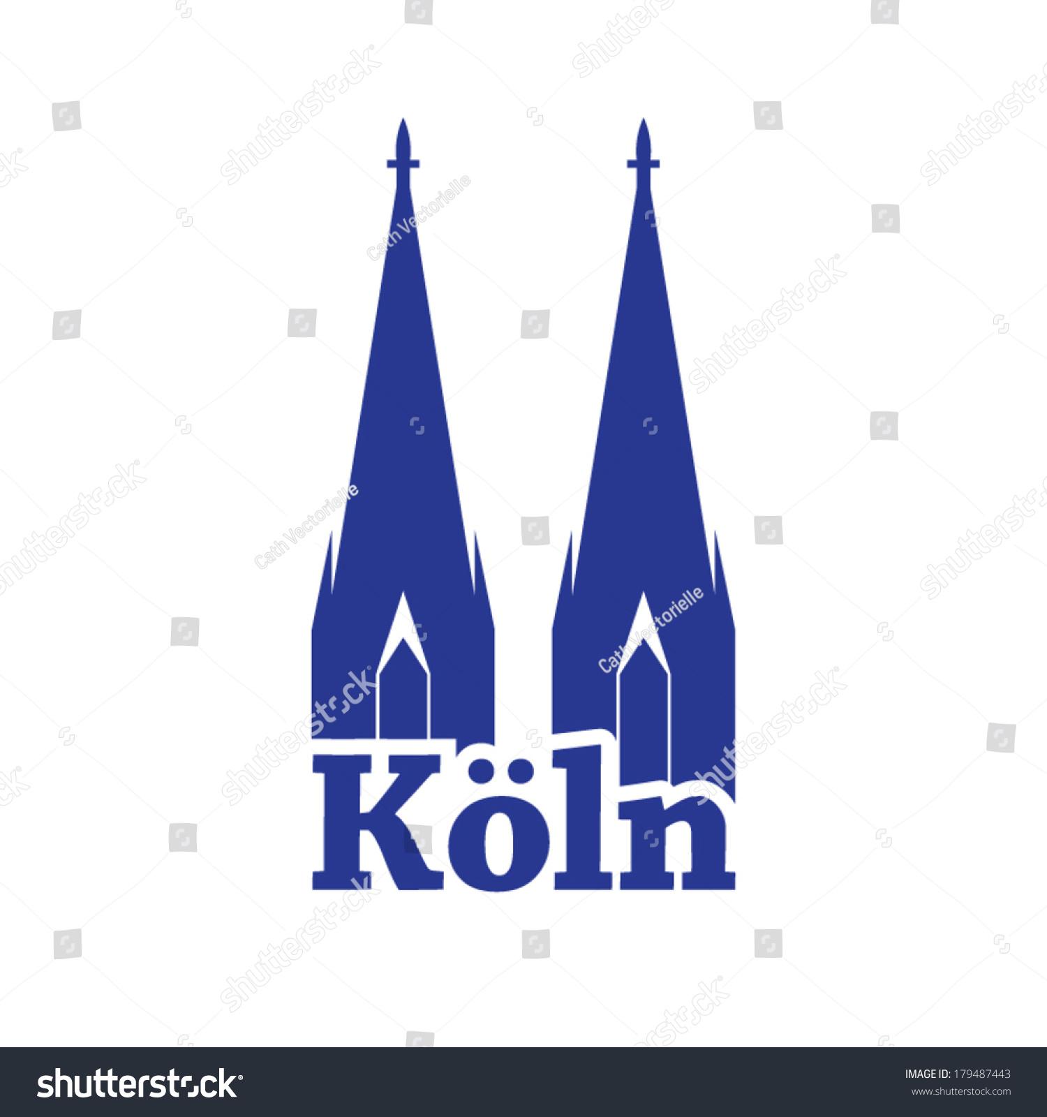 旅行图标代表欧洲德国科隆-建筑物/地标,符号/标志-()
