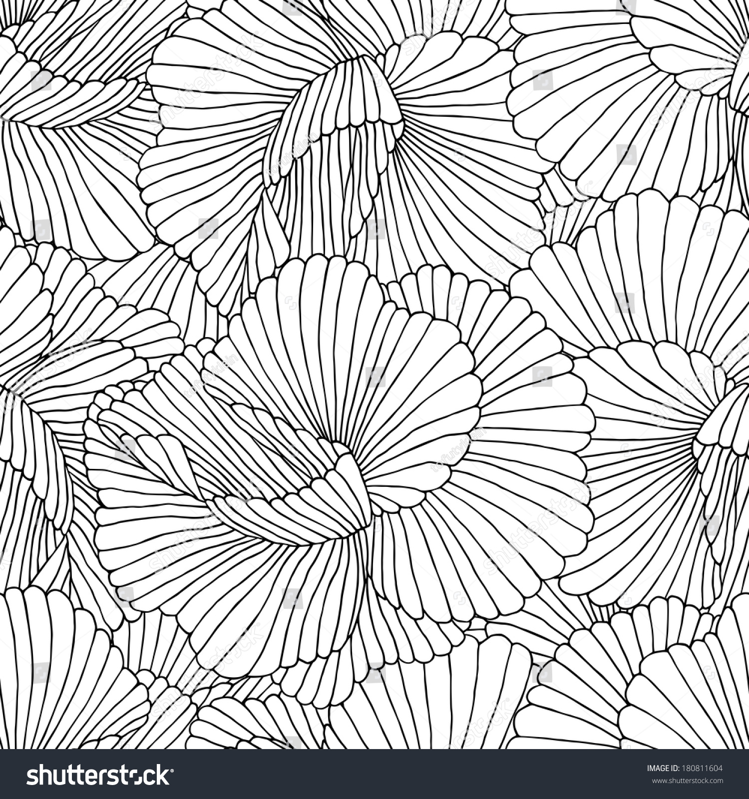 抽象的无缝的手绘图案.向量的背景.