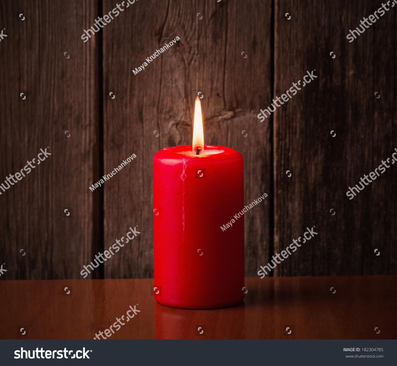 红烛在木制背景-背景/素材,假期-海洛创意(hellorf)-.